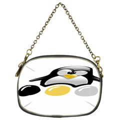 LINUX TUX PENGION AND EGGS Chain Purse (One Side)