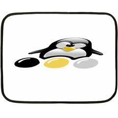 LINUX TUX PENGION AND EGGS Mini Fleece Blanket (Two Sided)