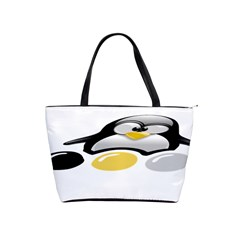 LINUX TUX PENGION AND EGGS Large Shoulder Bag