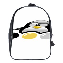 LINUX TUX PENGION AND EGGS School Bag (Large)