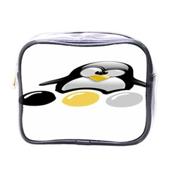 Linux Tux Pengion And Eggs Mini Travel Toiletry Bag (one Side)