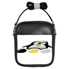 LINUX TUX PENGION AND EGGS Girl s Sling Bag