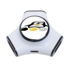 LINUX TUX PENGION AND EGGS 3 Port USB Hub
