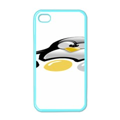 Linux Tux Pengion And Eggs Apple Iphone 4 Case (color)