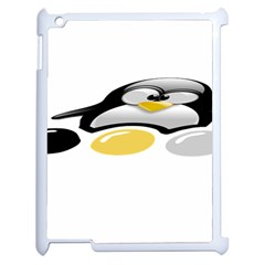 LINUX TUX PENGION AND EGGS Apple iPad 2 Case (White)