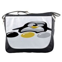 LINUX TUX PENGION AND EGGS Messenger Bag