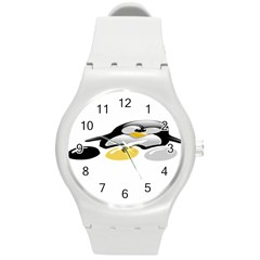 LINUX TUX PENGION AND EGGS Plastic Sport Watch (Medium)