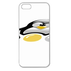 LINUX TUX PENGION AND EGGS Apple Seamless iPhone 5 Case (Clear)