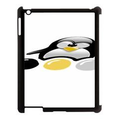 LINUX TUX PENGION AND EGGS Apple iPad 3/4 Case (Black)