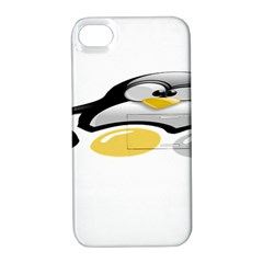 LINUX TUX PENGION AND EGGS Apple iPhone 4/4S Hardshell Case with Stand