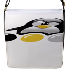 Linux Tux Pengion And Eggs Flap Closure Messenger Bag (small)