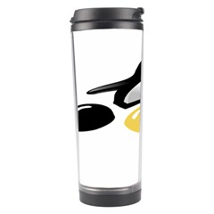 LINUX TUX PENGION AND EGGS Travel Tumbler