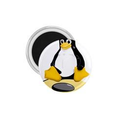 linux black side up egg 1.75  Button Magnet