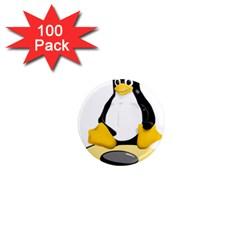 linux black side up egg 1  Mini Button Magnet (100 pack)