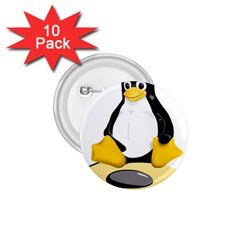 linux black side up egg 1.75  Button (10 pack)