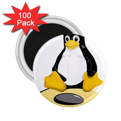 linux black side up egg 2.25  Button Magnet (100 pack)