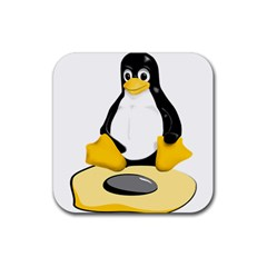 linux black side up egg Drink Coaster (Square)
