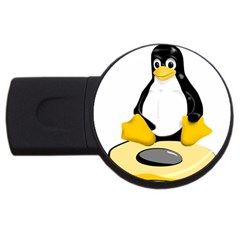 Linux Black Side Up Egg 2gb Usb Flash Drive (round)