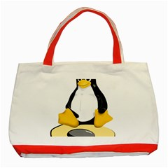 linux black side up egg Classic Tote Bag (Red)