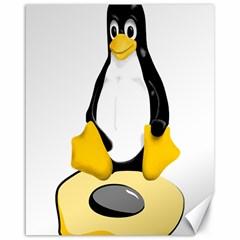 Linux Black Side Up Egg Canvas 16  X 20  (unframed)