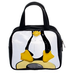 linux black side up egg Classic Handbag (Two Sides)