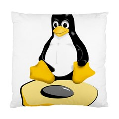 linux black side up egg Cushion Case (Two Sided)