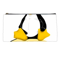 Linux Black Side Up Egg Pencil Case
