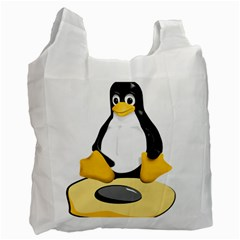 linux black side up egg Recycle Bag (Two Sides)