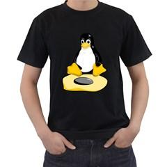 Linux Black Side Up Egg Mens' T Shirt (black)