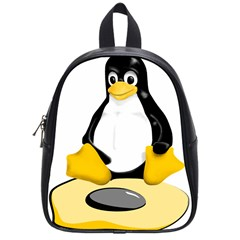 Linux Black Side Up Egg School Bag (small)