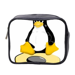 linux black side up egg Mini Travel Toiletry Bag (Two Sides)