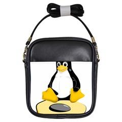 linux black side up egg Girl s Sling Bag
