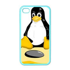 linux black side up egg Apple iPhone 4 Case (Color)
