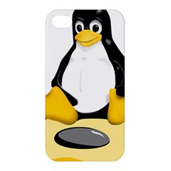 Linux Black Side Up Egg Apple Iphone 4/4s Hardshell Case