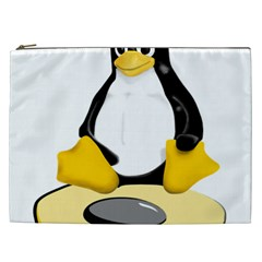 linux black side up egg Cosmetic Bag (XXL)