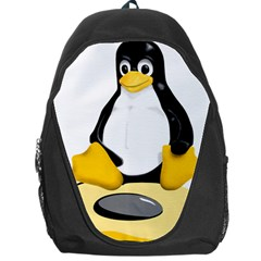 Linux Black Side Up Egg Backpack Bag