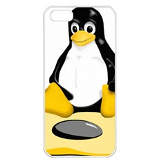 linux black side up egg Apple iPhone 5 Seamless Case (White)