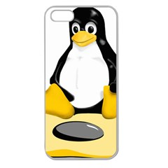 linux black side up egg Apple Seamless iPhone 5 Case (Clear)