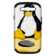 linux black side up egg Samsung Galaxy S III Hardshell Case (PC+Silicone)