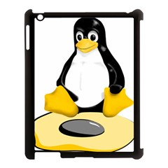linux black side up egg Apple iPad 3/4 Case (Black)