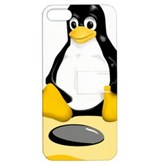 Linux Black Side Up Egg Apple Iphone 5 Hardshell Case With Stand