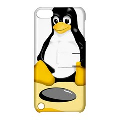 linux black side up egg Apple iPod Touch 5 Hardshell Case with Stand