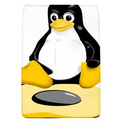 linux black side up egg Removable Flap Cover (Small)