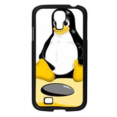 Linux Black Side Up Egg Samsung Galaxy S4 I9500/ I9505 Case (black)