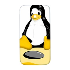 Linux Black Side Up Egg Samsung Galaxy S4 I9500/i9505  Hardshell Back Case
