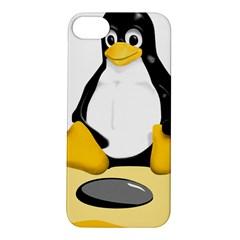 linux black side up egg Apple iPhone 5S Hardshell Case