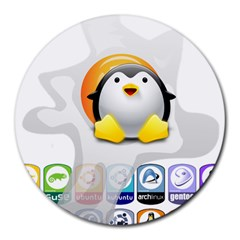 LINUX VERSIONS 8  Mouse Pad (Round)