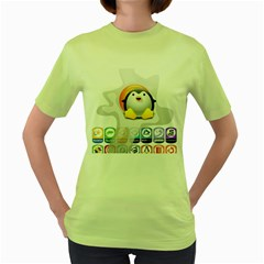 Linux Versions Womens  T Shirt (green)