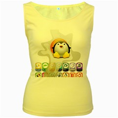 Linux Versions Womens  Tank Top (yellow)