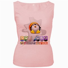 LINUX VERSIONS Womens  Tank Top (Pink)
